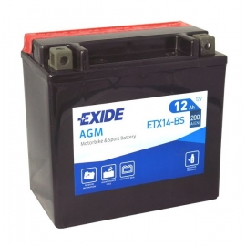 Motobaterie EXI ETX14-BS