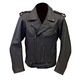 Pánská kožená moto bunda Spark Vintage křivák, černá