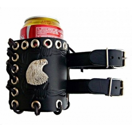 Kožený obal Bikersmode Orel na plechovku, 0,33 L