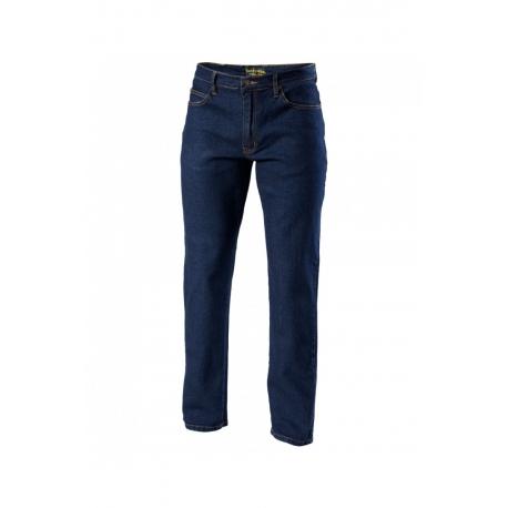 Pánské textilní kevlar moto kalhoty Spark Denim, modré