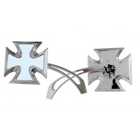 Zrcátko TechStar motiv maltézký kříž, pár