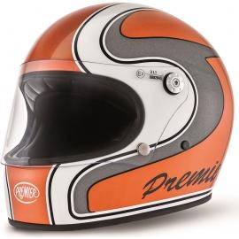 Moto helma Premier Trophy, oranžová