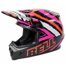 Moto helma Bell MX-9 Tagger Scrub Pink