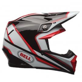 Moto helma Bell Moto-9 Spark Red, Black