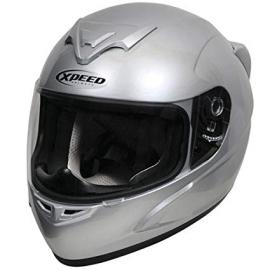 Moto helma Xpeed XP 509, stříbrná
