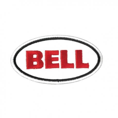 Nášivka logo Bell 7,62 cm, bílá
