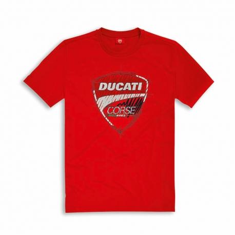 Pánské tričko Ducati Corse Sketch červené, originál
