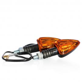 Miniblinkry Motion Stuff černé s oranžovým sklíčkem, žárovka, E-mark, pár