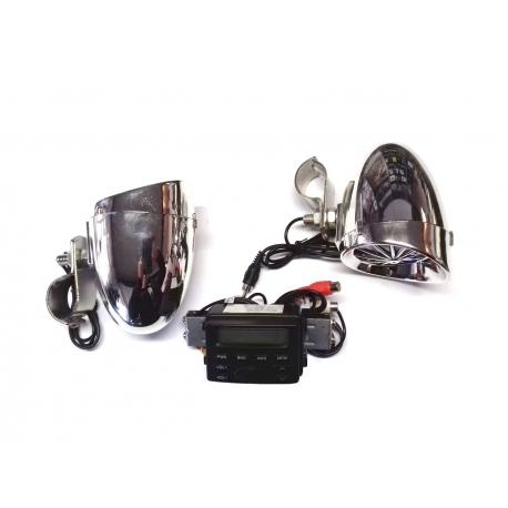 Lexin LXAMP723 voděodolné reproduktory na Harley-Davidson