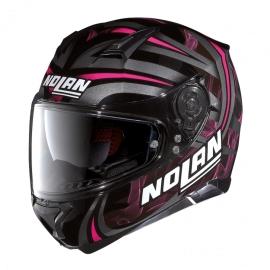 Moto helma Nolan N87 Ledlight N-Com Glossy Black 31