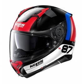 Moto helma Nolan N87 Plus Distinctive N-Com Glossy Black 28