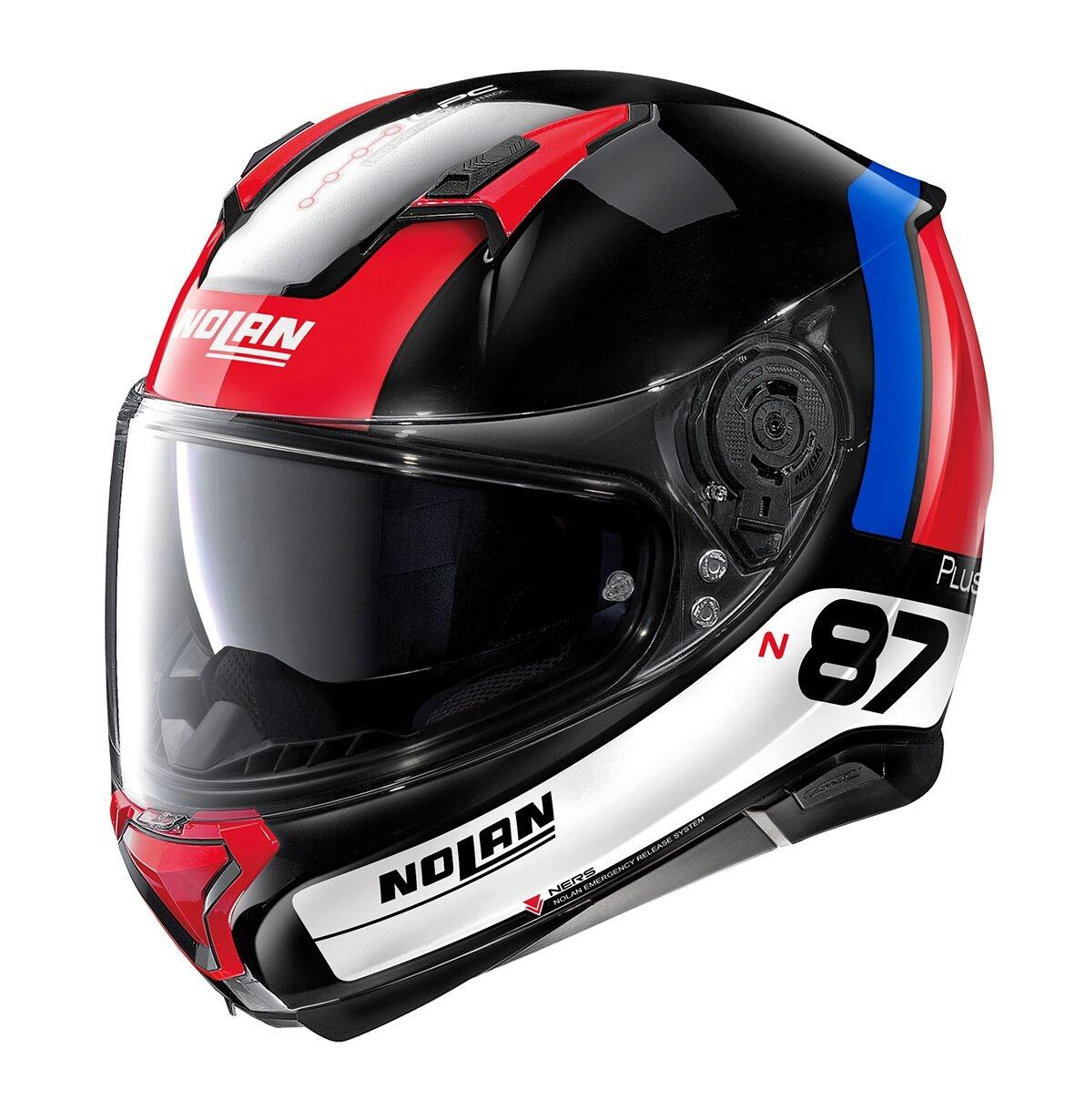 Moto helma Nolan N87 Plus Distinctive N-Com Glossy Black 28