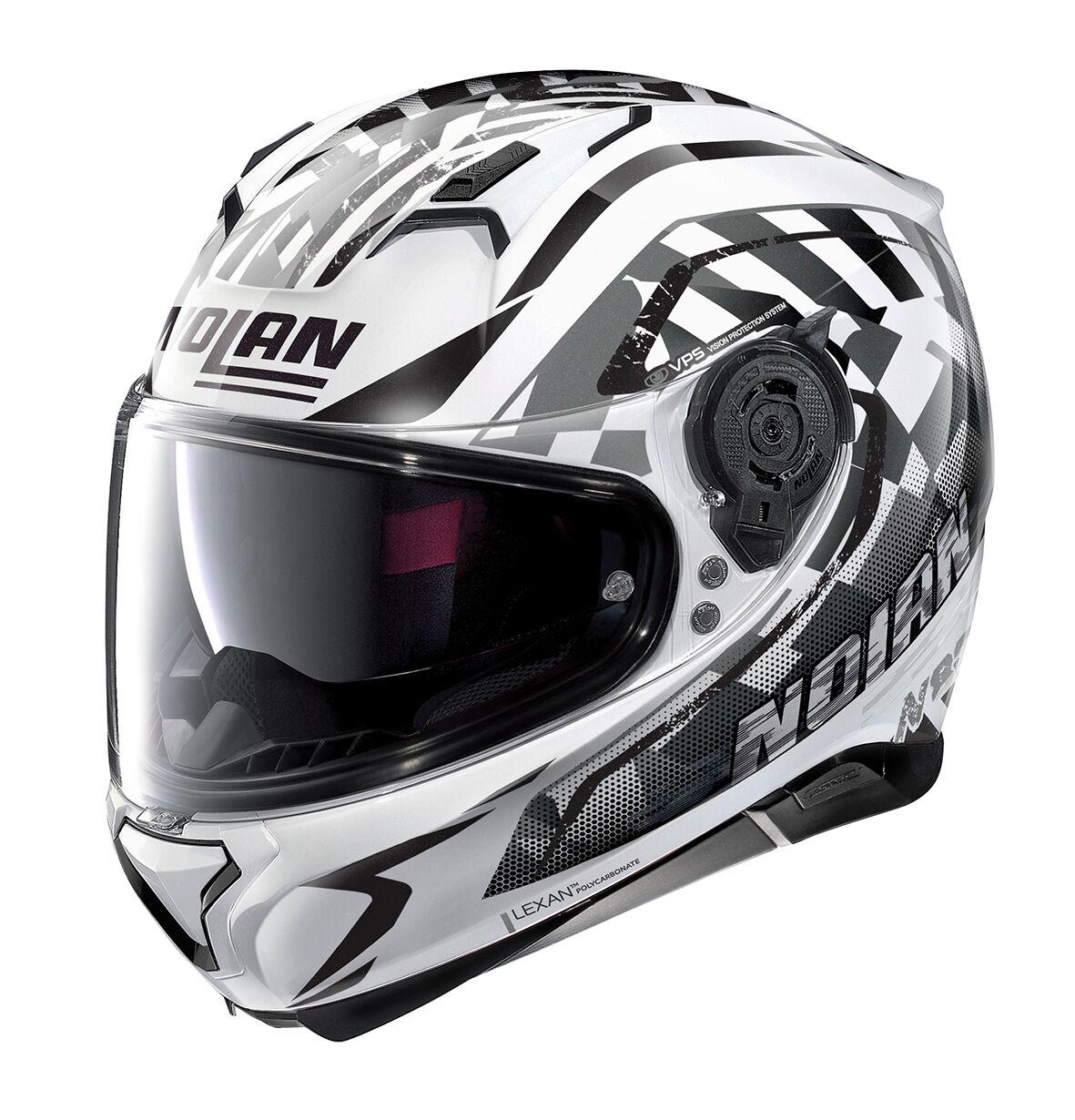 Moto helma Nolan N87 Venator N-Com Metal White 93