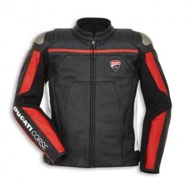 Pánská ložená bunda Ducati Corse C4 černá perforovaná