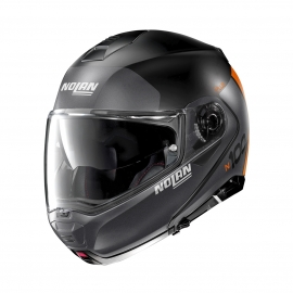 Moto helma Nolan N100-5 Plus Distinctive N-Com Flat Black 26