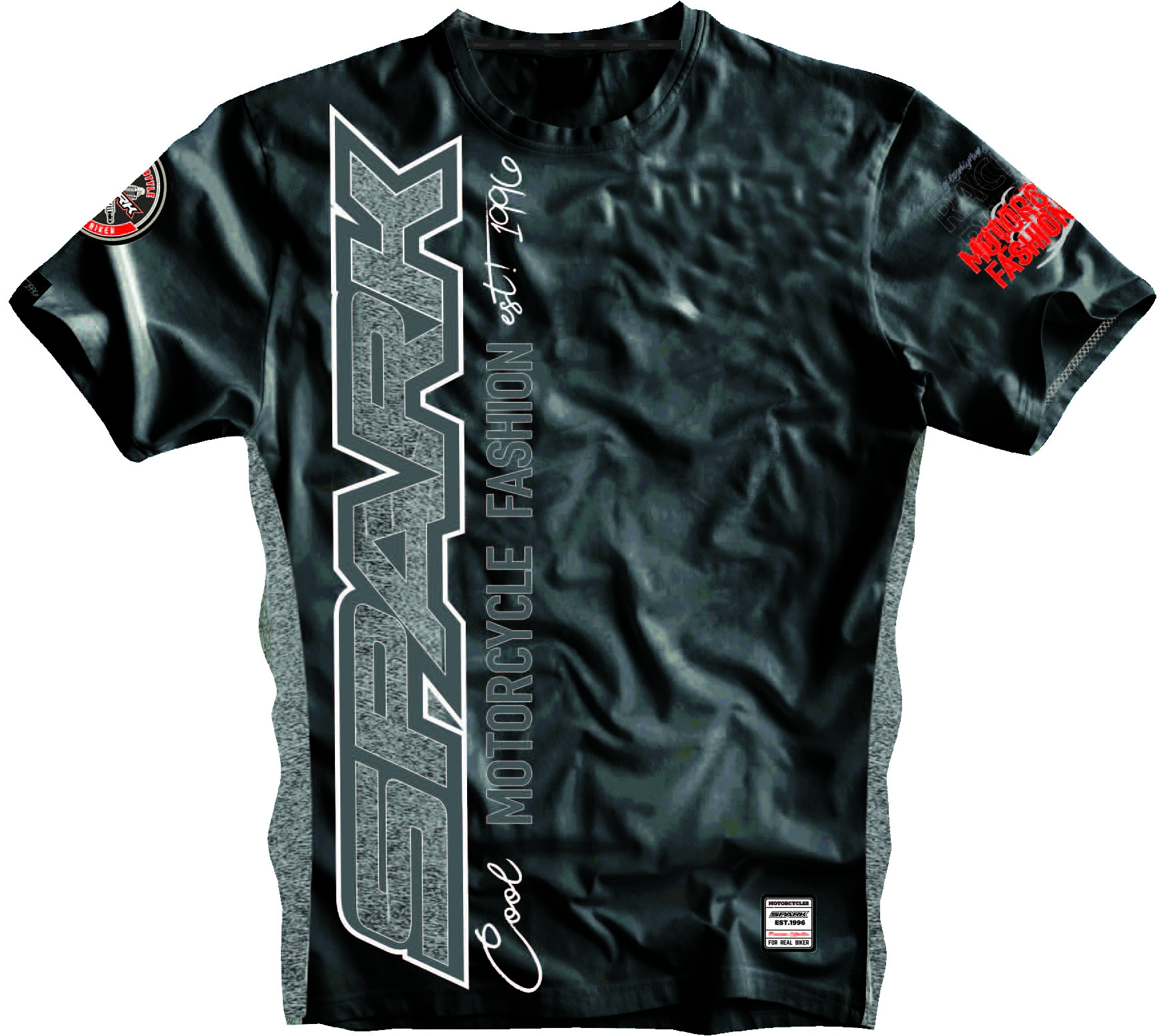 Pánské tričko Spark S 005, černé