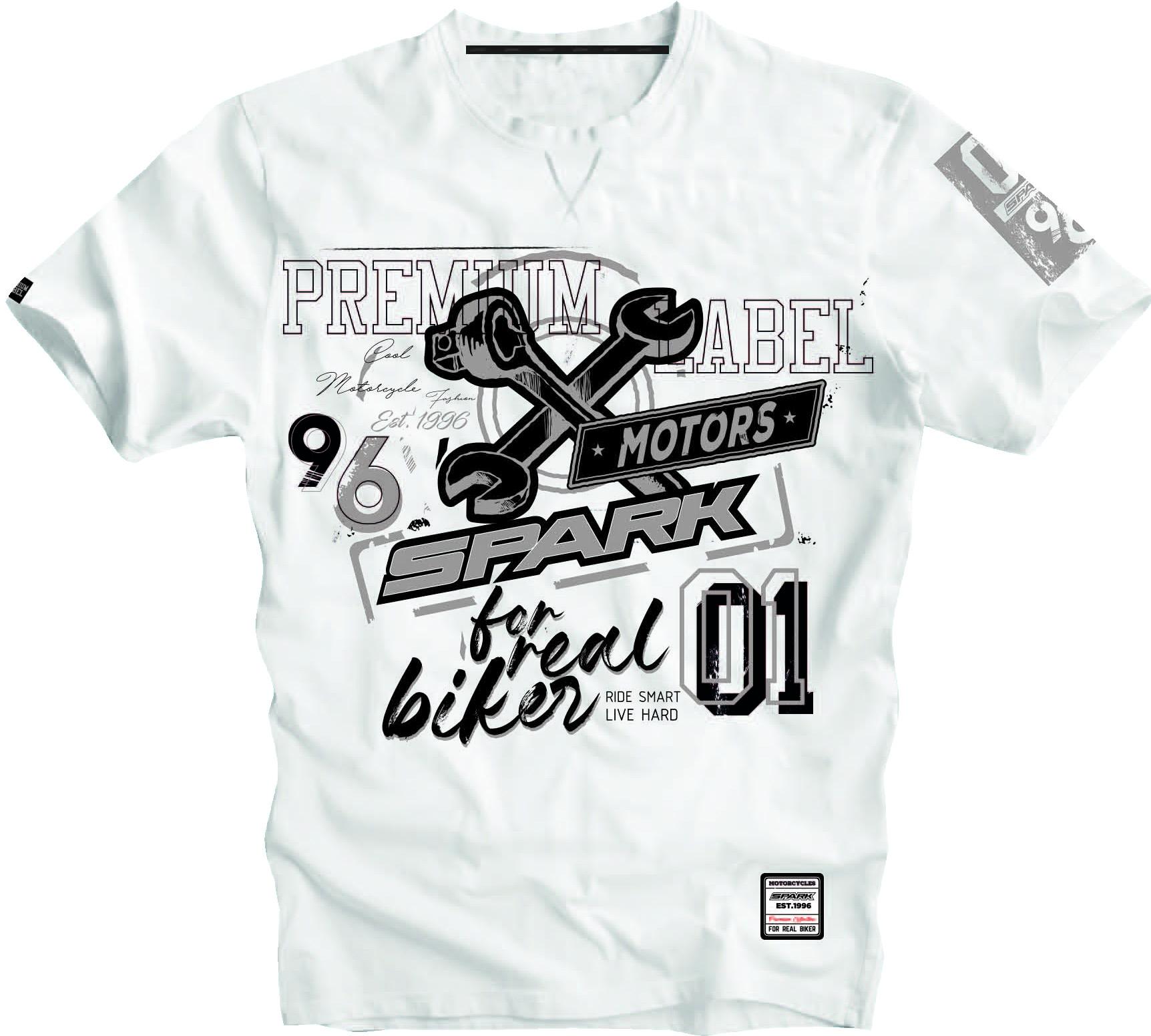 Pánské tričko Spark S 008, bílé