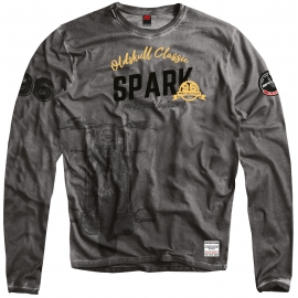 Pánské tričko Spark LS 002 dlouhý rukáv, šedé