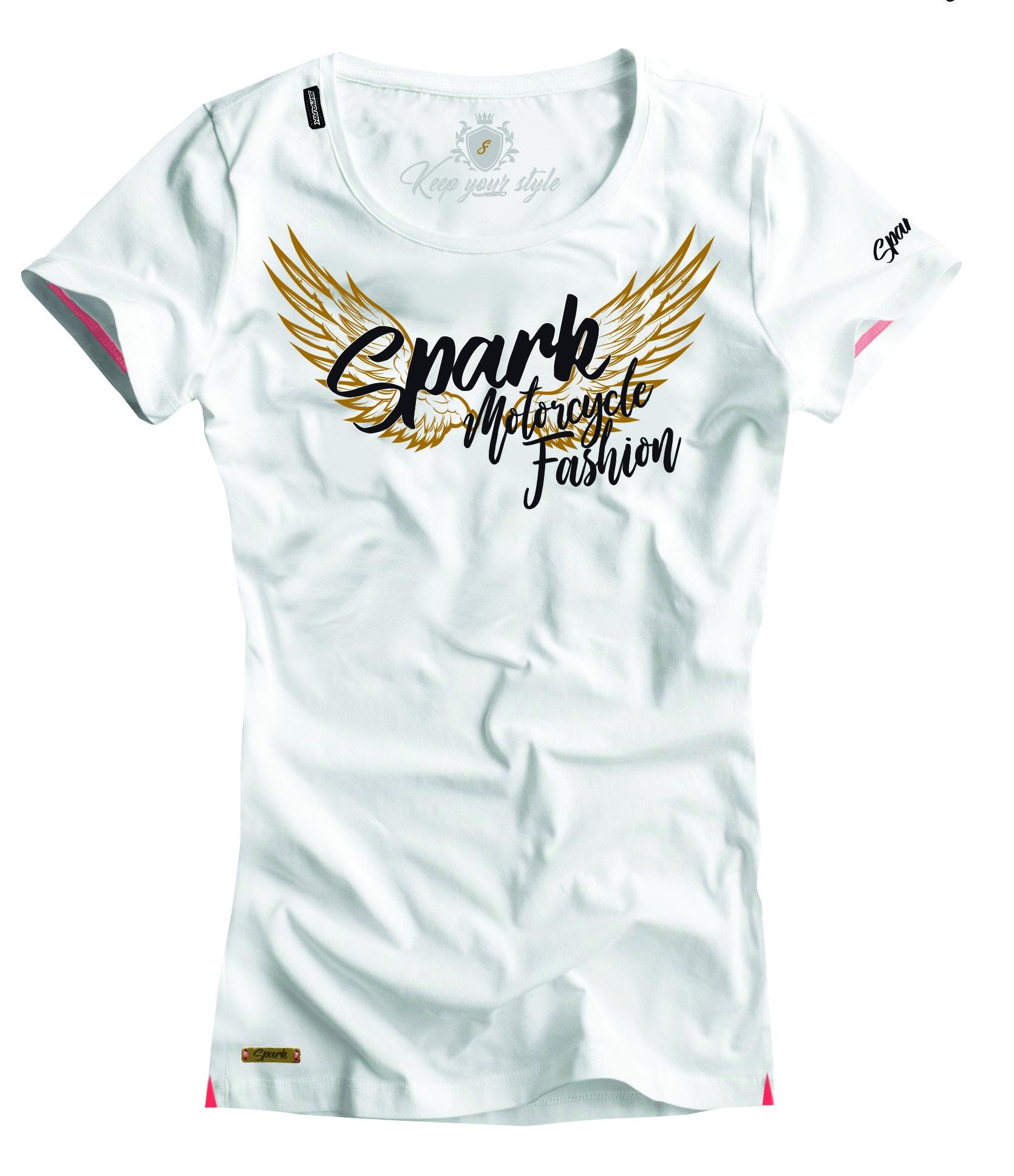 Dámské tričko Spark D 011, bílé