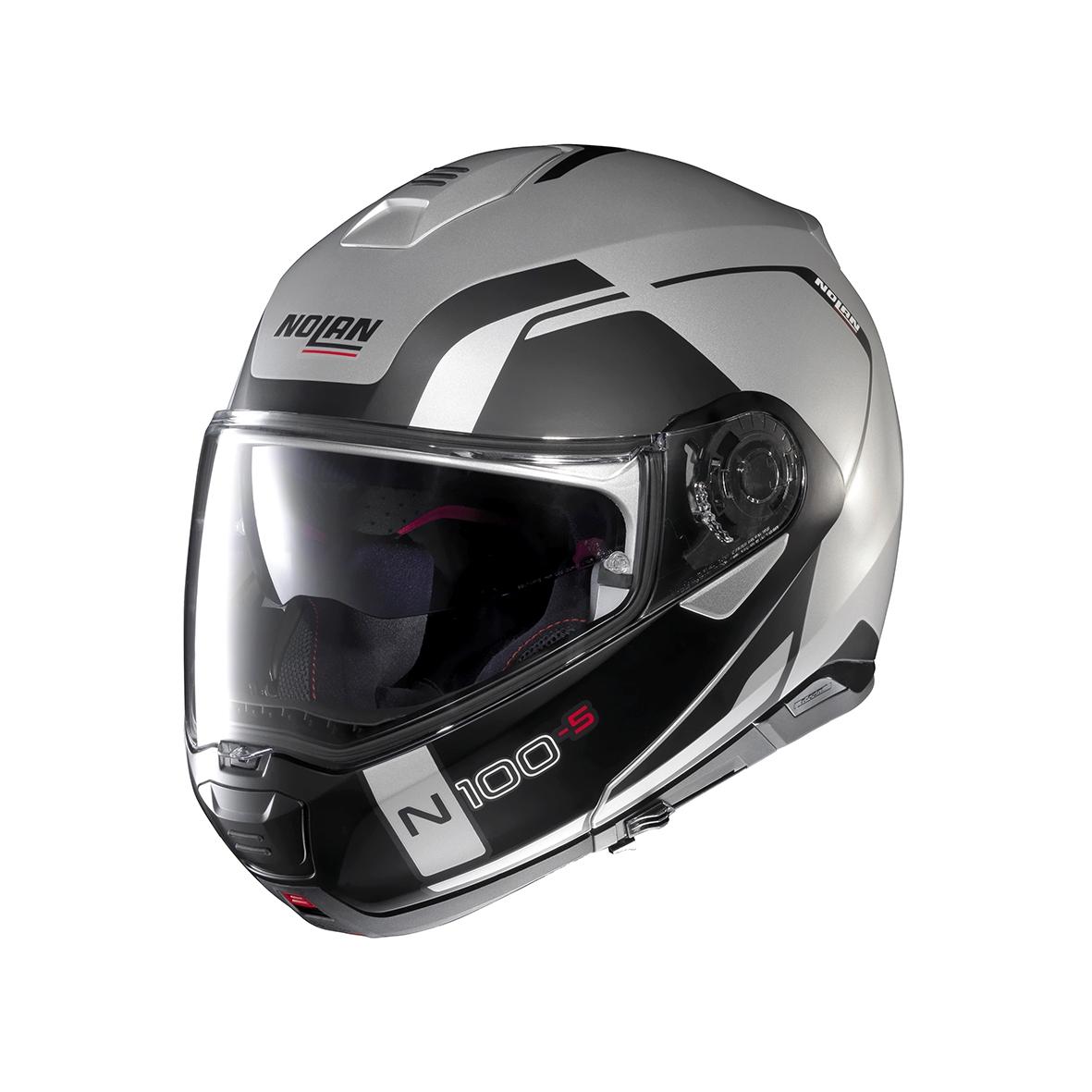 Moto helma Nolan N100-5 Consistency N-Com Flat Silver 21