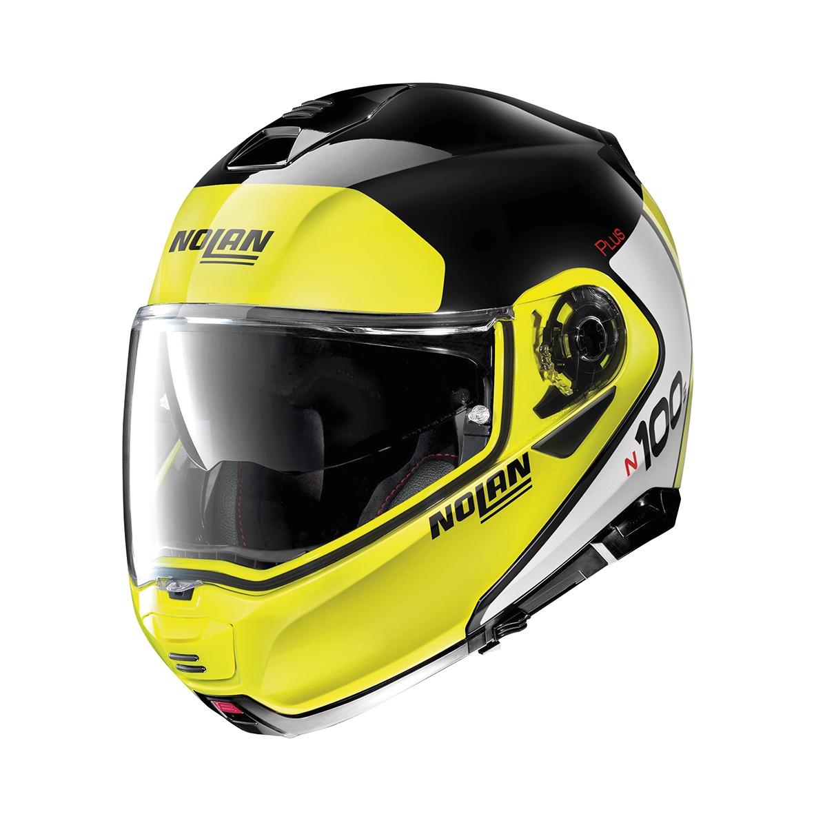Moto helma Nolan N100-5 Plus Distinctive N-Com Glossy Black 28