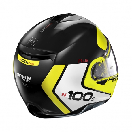Moto helma Nolan N100-5 Plus Distinctive N-Com Glossy Black 28