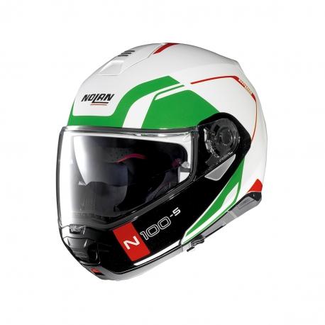 Moto helma Nolan N100-5 Consistency N-Com Metal White 30