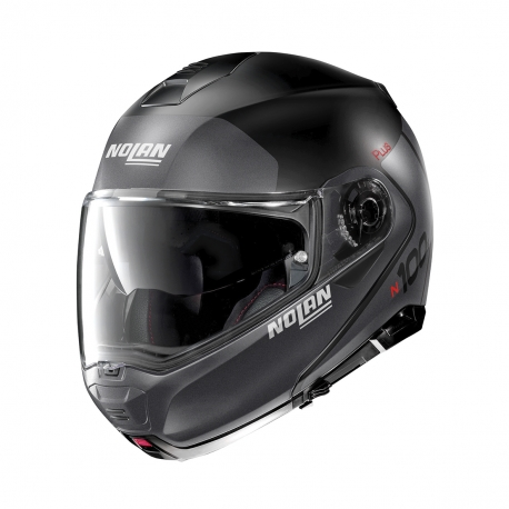 Moto helma Nolan N100-5 Plus Distinctive N-Com Flat Black 21