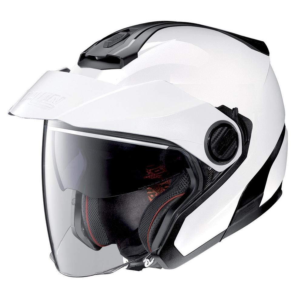 Moto helma Nolan N40-5  Classic N-Com Metal White 5