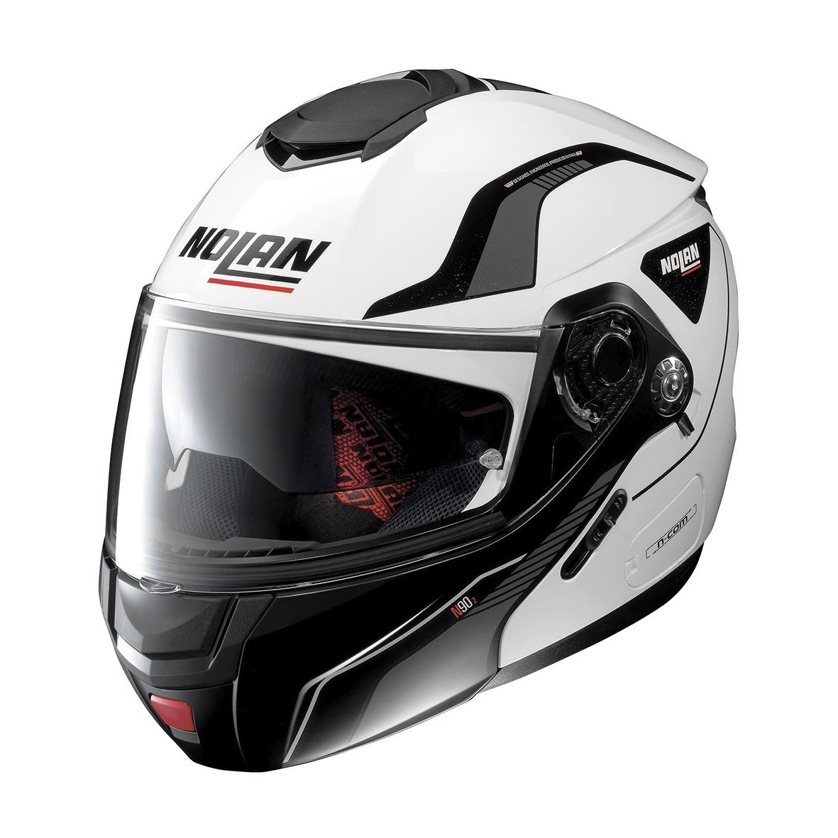 Moto helma Nolan N90-2 Straton N-Com Metal White 17