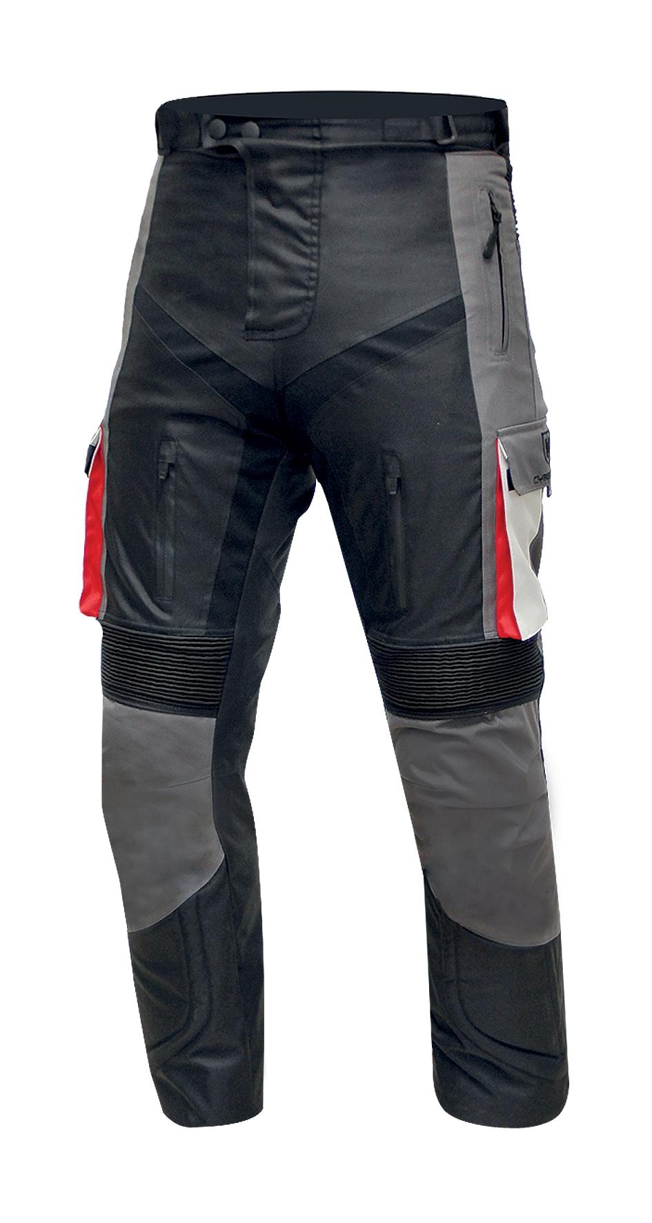 Pánské textilní moto kalhoty Cyber Gear Tour Long, šedé