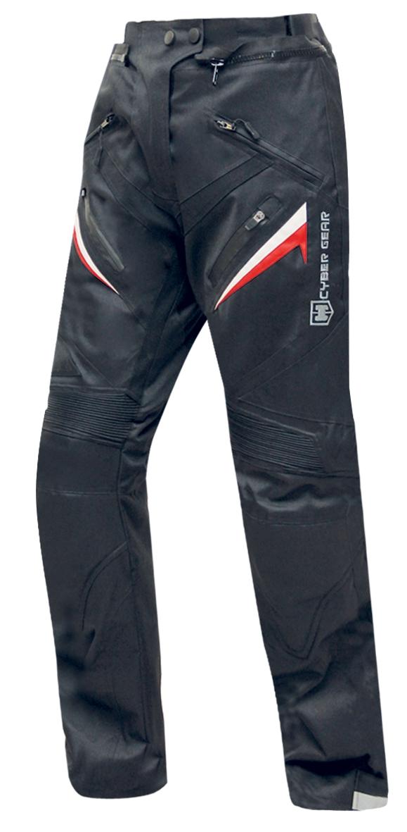 Dámské textilní moto kalhoty CYBER GEAR MONICA, černé