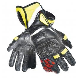 Pánské kožené moto rukavice Spark Pilot, černé