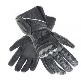 Pánské kožené moto rukavice Spark Arena, černé