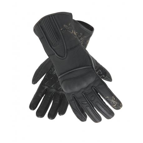 Dámské kožené moto rukavice Spark Nella, černé - L