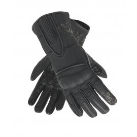 Dámské kožené moto rukavice Spark Nella, černé