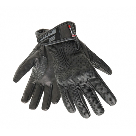 Pánské kožené moto rukavice Spark Tropo, černé