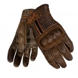 Pánské kožené moto rukavice Spark Crisp, hnědé