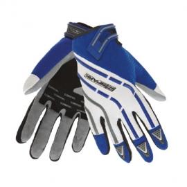 Pánské textilní moto rukavice Spark Cross, modré