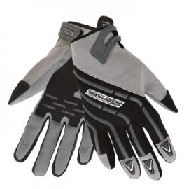 Pánské textilní moto rukavice Spark Cross, šedé