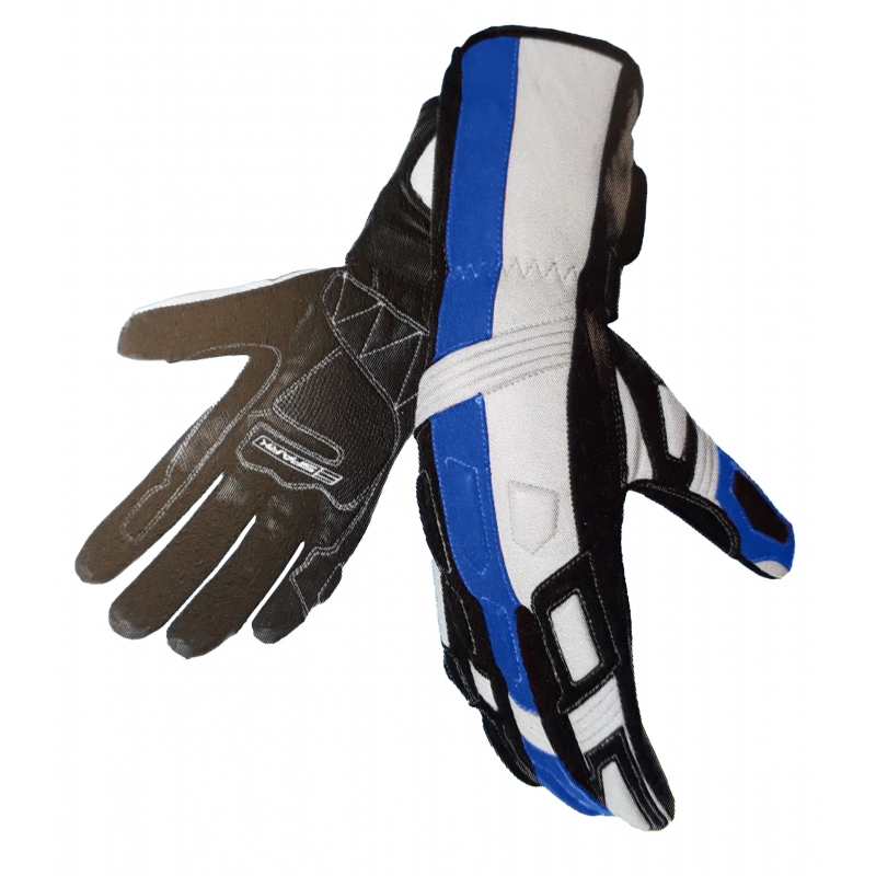 Pánské kožené moto rukavice Spark Tampa, modré