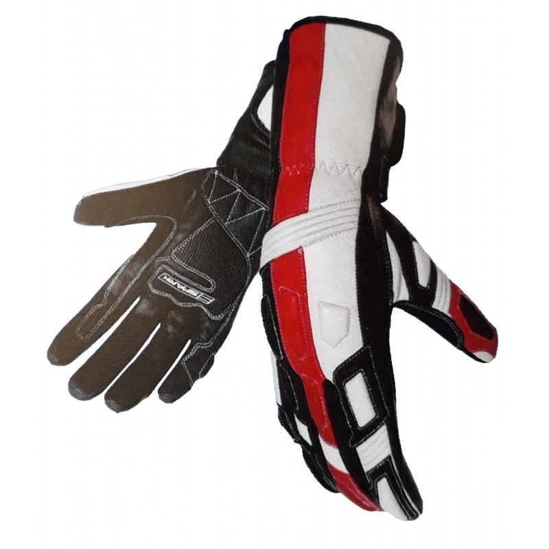 Pánské kožené moto rukavice SPARK TAMPA, červené