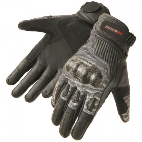 Pánské kožené moto rukavice Spark Terra Cross, černé
