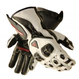 Pánské kožené moto rukavice Spark Elite, bílé