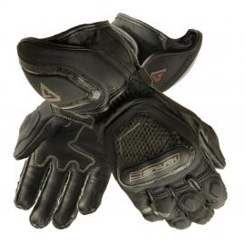 Pánské kožené moto rukavice Spark GP Tec, černé švy bez záruky