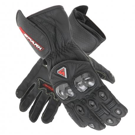 Pánské kožené moto rukavice Spark Elite, černé