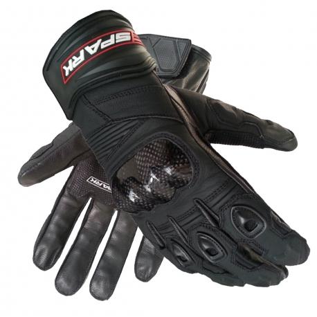 Pánské kožené moto rukavice Spark Sport, černé