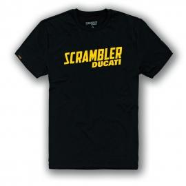 Pánské tričko Ducati Scrambler Milestone černé, originál