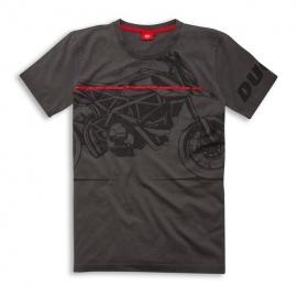 Pánské tričko Ducati Red Line šedé, originál