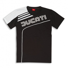 Pánské tričko Ducati 77 černé, originál